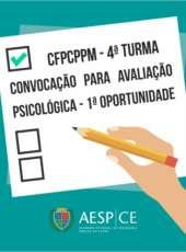 Publicado edital de convocação para Avaliação Psicológica – 1ª Oportunidade