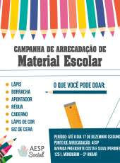 Aesp realiza campanha de arrecadação de material escolar