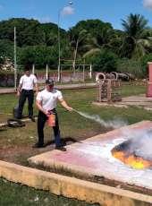 Alunos do CFO PM participam de instruções de combate a incêndio no Quartel do CBM (4ª Cia/1º BBM)