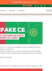 Antifake: Governo do Ceará lança agência de checagem de dados e notícias